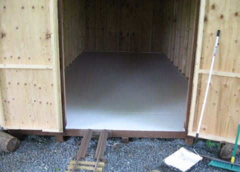 Paint Plywood Shed Floor